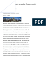 Commercial real estate mezzanine finance