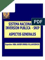 SNIP - Aspectos Generales