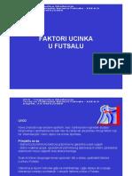 Faktori Ucinka u Futsalu