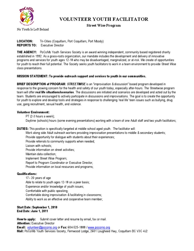 facilitator cover letter - Etame.mibawa.co