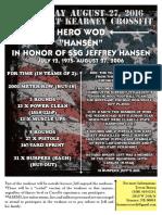 "Hansen ""Hero WOD"""