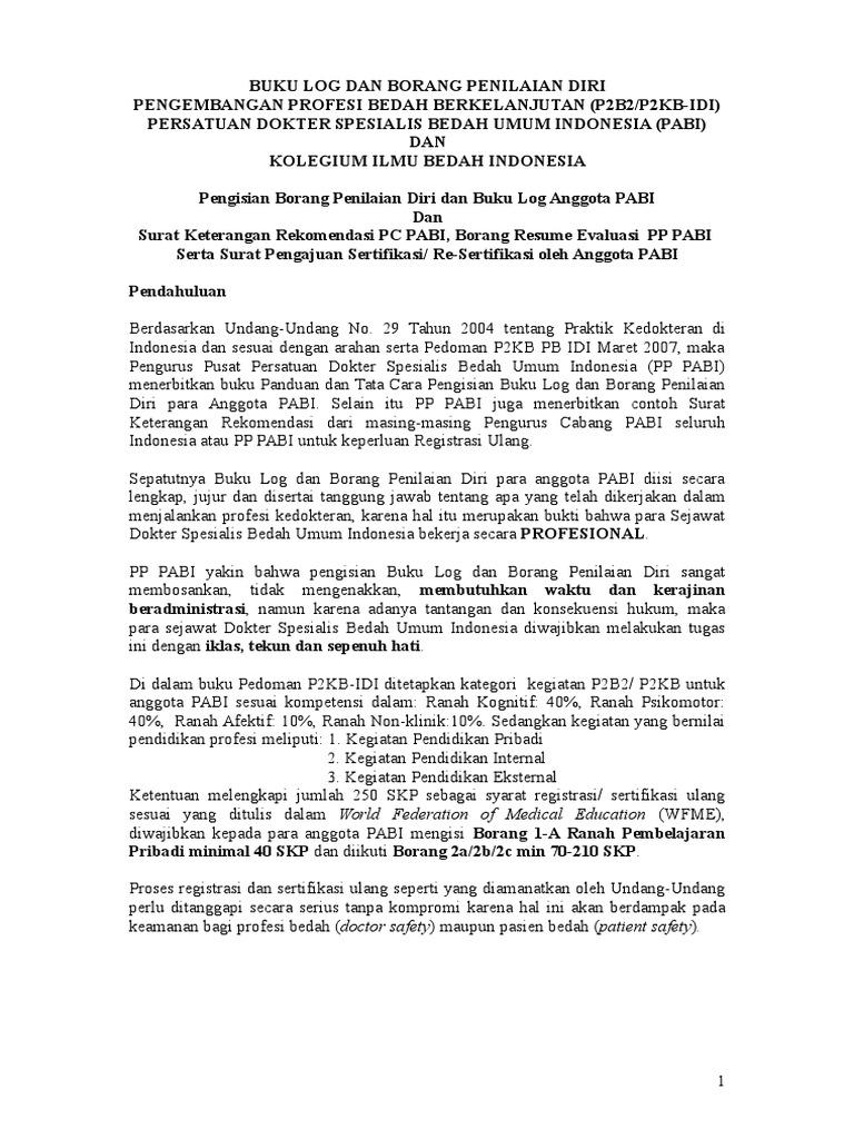 Buku Log Dan Borang Penilaian Diri Final