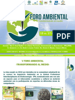 "V Foro Ambiental ""Transformando al medio"""