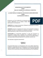 Memorándum de Entendimiento Entre El Ministerio de Turismo de La República Argentina y La Secretaría de Turismo de México Sobre Cooperación Turística