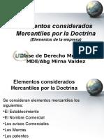 Elementos Considerados Como Meracnatiles Por La Doctrina (1)