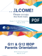 G11-G12 IBDP Parents Orientation 2016
