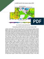 Forecasting rainfall trend for the monsoon season 2016