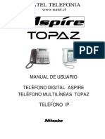 Manual usuario teléfono multilíneas Nec Topaz