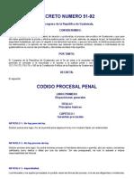 Codigo Procesal Penal Guatemalteco