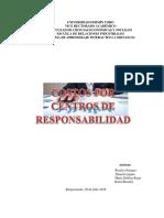 Trabajo de Contabilidad Costos Por Centro de Responsabilidad