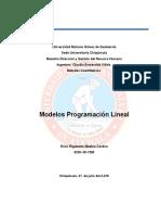 modelos de programcion lineal