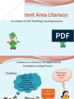developing content-area literacy