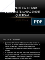 California Solid Waste Management Quiz Bowl