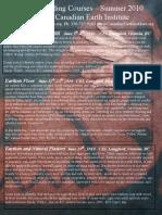 CEI Natural Building Workshop Flyer2010