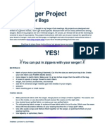Free Serger Project Serged Zipper Bags