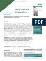 Estudio Actividad Antibacteriana de Tinturas Homeopaticas