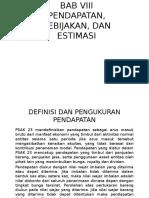 Bab Viii Pendapatan Kebijakan Dan Estimasi Final