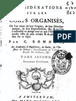 Charles Bonnet-Considerations Sur Les Corps Organises 1768 II
