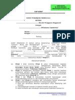 Contoh Surat Perjanjian Swakelola