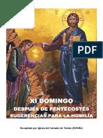 XI Domingo Después de Pentecostés -Sugerencias para la Homilía