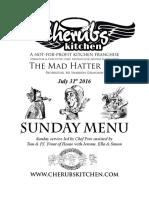 31072016 Sunday Menu - Hatter