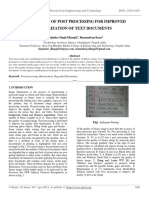 Importance of Post Processing for Improved Binarization of Text Documents