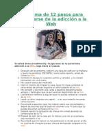 Programa de 12 pasos para recuperarse de la adicción a la Web