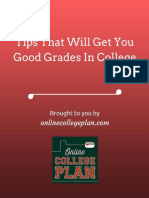 Tips That Will Net You Good Grades in College