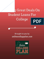 Finding Great Deals on Student Loans for College