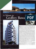 A Tribute to Geoffrey Bawa Explore Sri Lanka June 2003