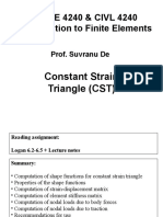 Constant Strain Triangle - Stiffness matrix derivation