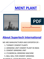 Cement Manufacturing Plant From India