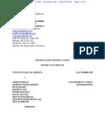 07-29-2016 ECF 958 USA v a BUNDY Et Al - Government Trial Memorandum