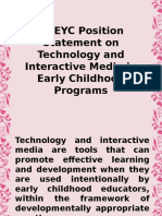 NAEYC Position Statement on Technology and Interactive Media