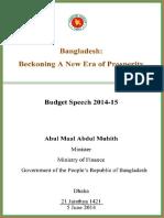 Budget Speech 2015-14