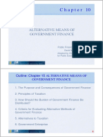 Alternative Means of Government Finance