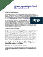 Cara Membuat Rumus Matematika Dan Fisika Di Microsoft Office Word by Oget _sincan