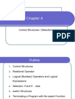 Chapter 4 Control Structures I (Selection)
