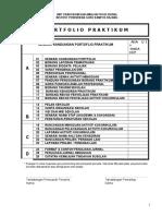 PIPR-01 Senarai Kandungan Portfolio