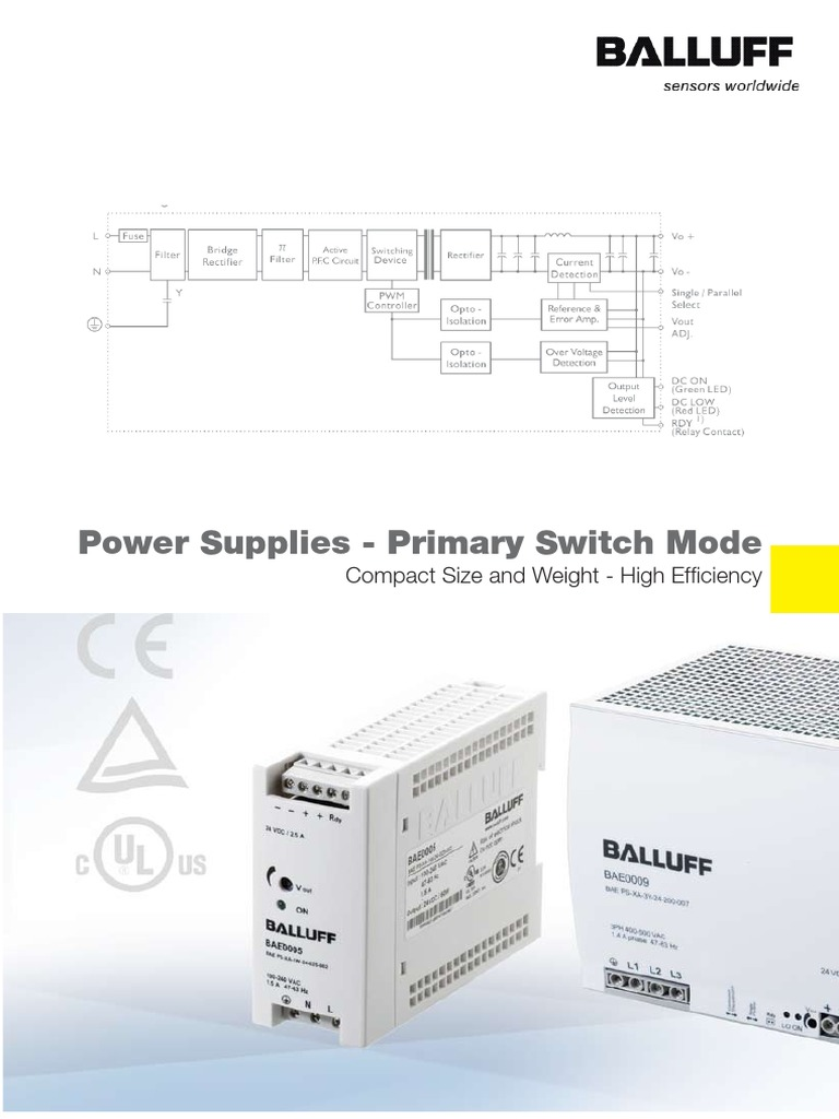 0902 Baepowersupplieswebflyerpdf Power Supply Electrical Balluff Wiring Diagram Engineering