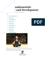 Yoga Fundamentals History and Development