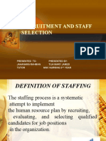Recruitment and Staff Selection