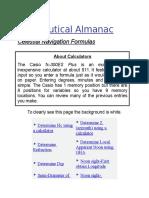 Celestial Navigation Formulas