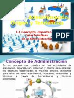 Concepto, Importancia y Caracteristicas de La Administracion