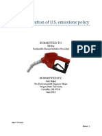 Recent Evolution of U.S. Emissions Policy