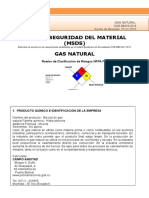 MSDS Gas Natural