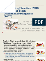 Kuliah 10-11, ADR (Adverse Drug Reaction)