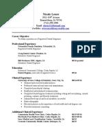dental hygiene resume- no references
