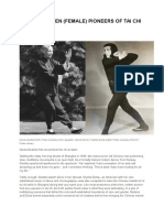 The Forgotten (Female) Pioneers of Tai Chi in the West