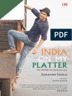 India on My Platter - Saransh Goila